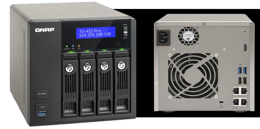 RAID 5 NAS QNAP TS-453 pro odzyskiwanie danych