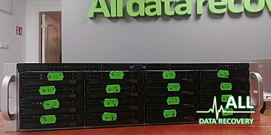odzyskiwanie danych z macierzy RAID 5 16x8TB
